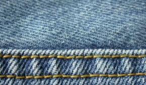 Naht einer Jeanshose