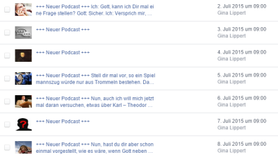 Geplante Podcast
