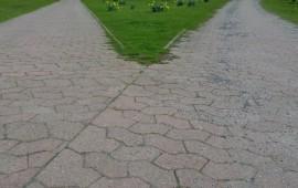 Kreuzung im Park