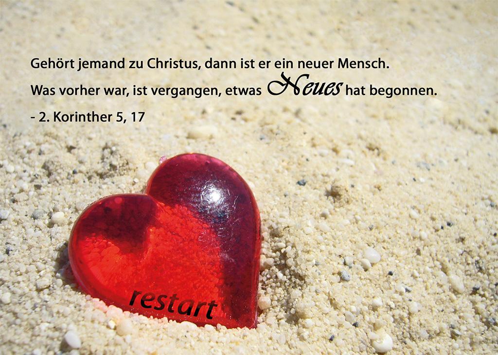Postkarte 2. Korinther 5, 17
